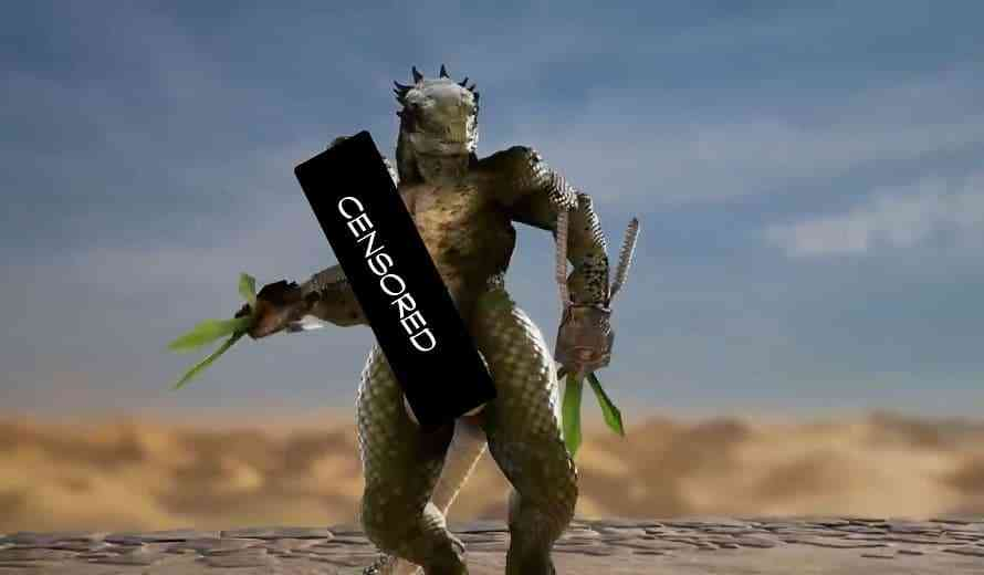Players Are Giving Lizardman an Enormous Penis in