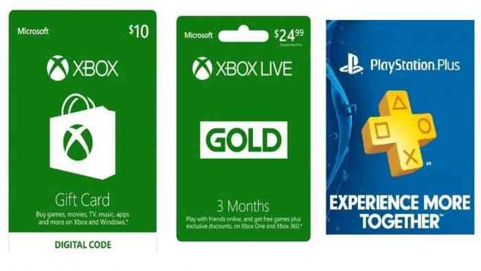 Gift Card PSN/Xbox