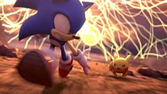 super smash bros ultimate hero - sonic and pikachu