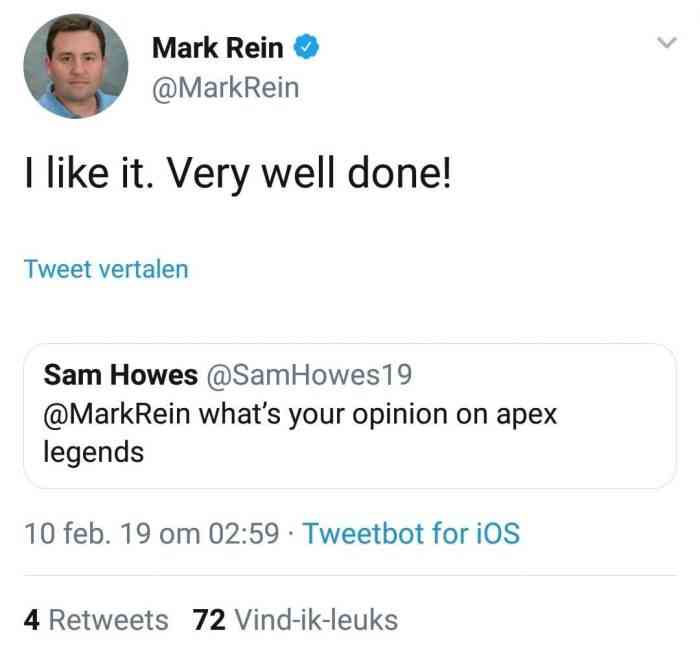 tweet from mark rein to respawn