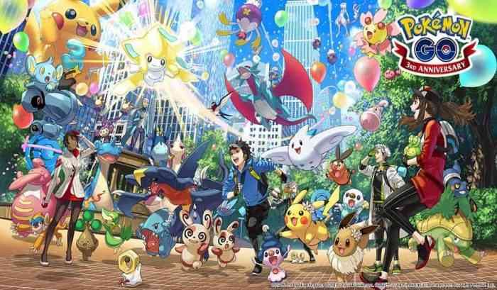 Pokemon GO Third Anniversary-min