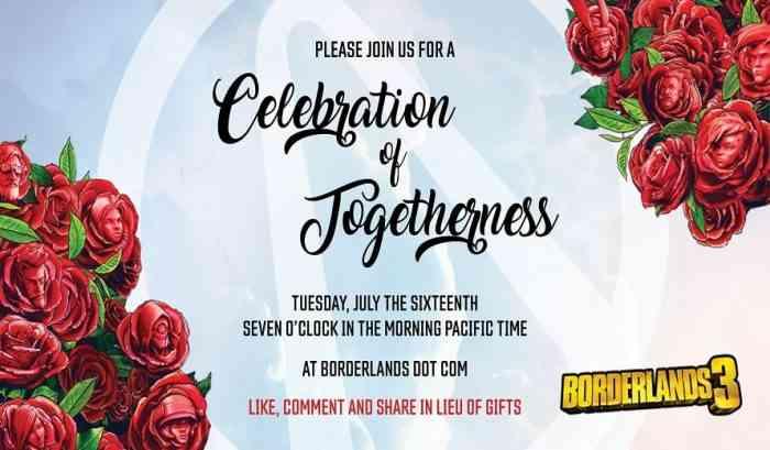 Borderlands 3 Celebration of Togetherness