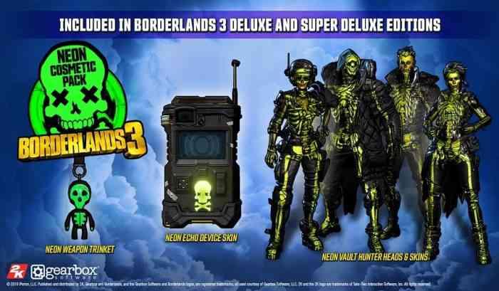 Gearbox Announces Borderlands 3 Deluxe Edition Bonuses
