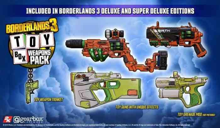 Borderlands 3 Deluxe Edition Bonuses