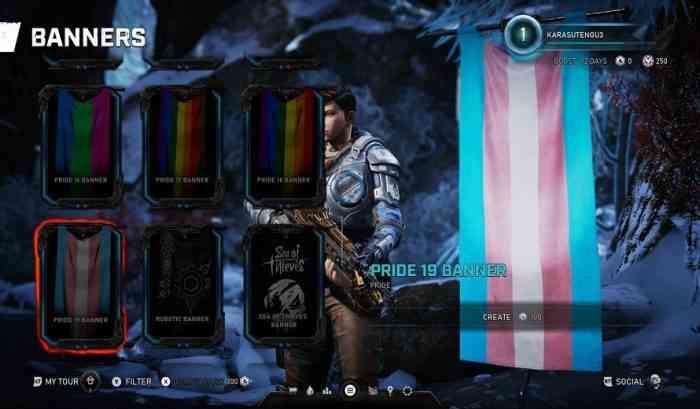 LGBTQ+ Flags in Gears 5