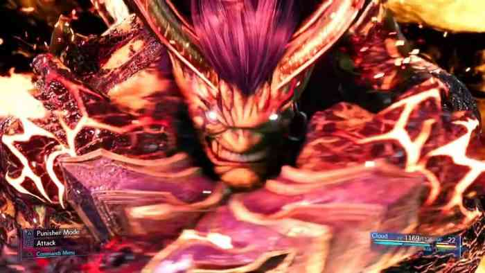 FF7 remake footage Ifrit