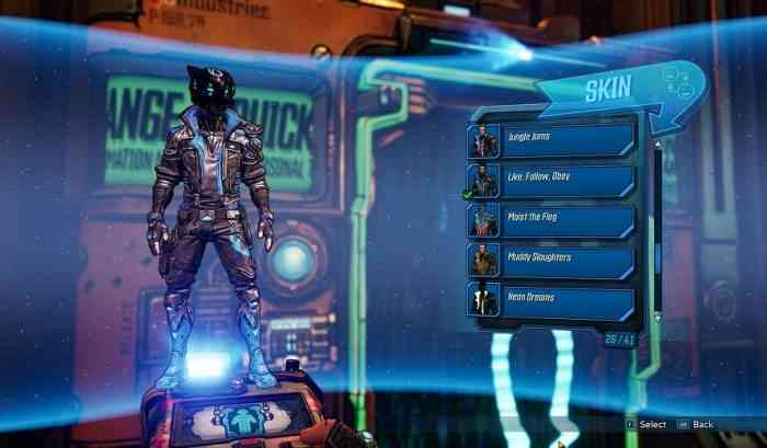 Borderlands 3 Skins and Heads