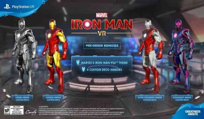 Iron Man VR Pre-Order Bonuses