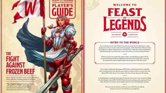 Feast of Legends Tabletop RPG