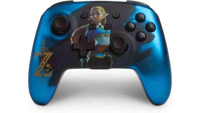 PowerA Enhanced Wireless Controller for Nintendo Switch - Satin Blue Chrome Zelda