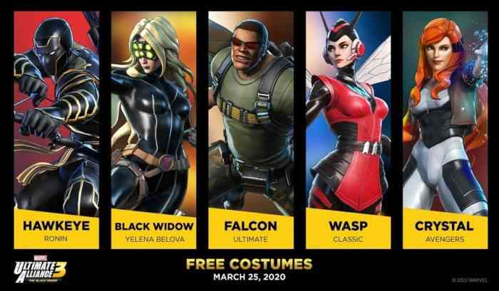 Marvel Ultimate Alliance 3 Costumes