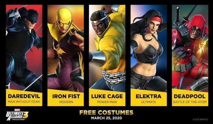 Marvel Ultimate Alliance 3 Costumes