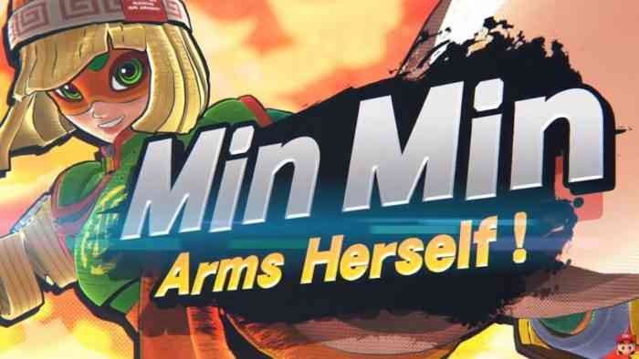 Min-Min ARMS Smash Bros Ultimate