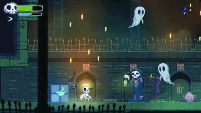 Gameplay screen of Skelattack