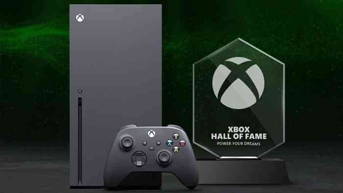 """Xbox Series X console, controller, and a trophy with the phrase: """"Xbox Hall of Fame - Power Your Dreams"""""""