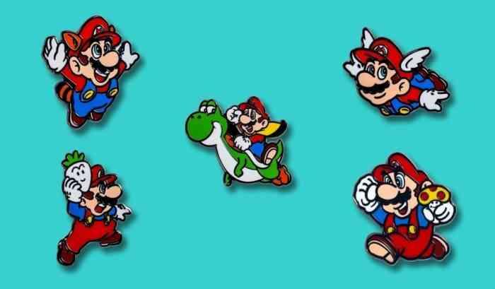 Mario's 35th Anniversary Pins