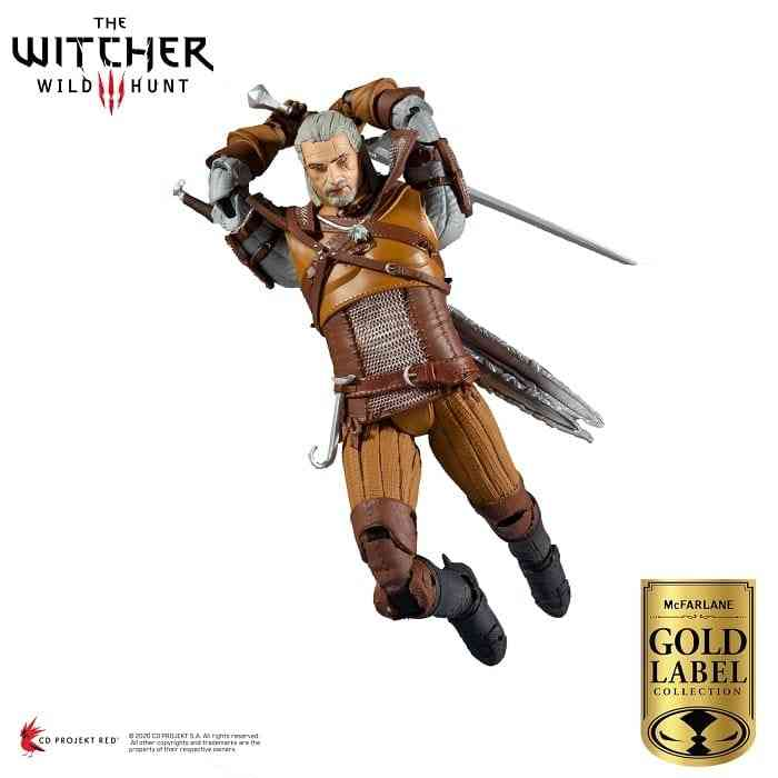 The McFarlane Gold Label Collection: Geralt of Rivia from The Witcher 3: Wild Hunt