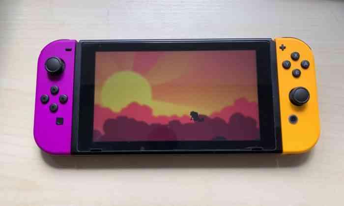 Nintendo Neon Purple and Neon Orange Joy-Con