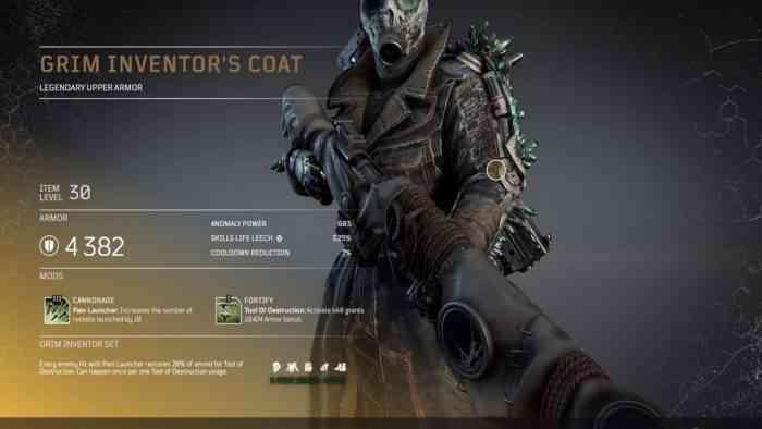 Outriders Grim Inventor's Coat