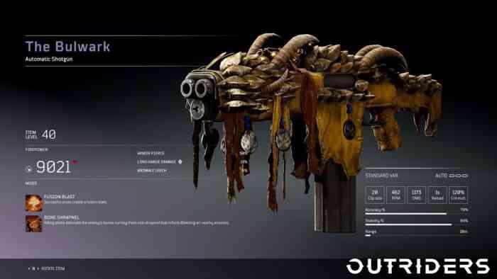 outriders shotgun