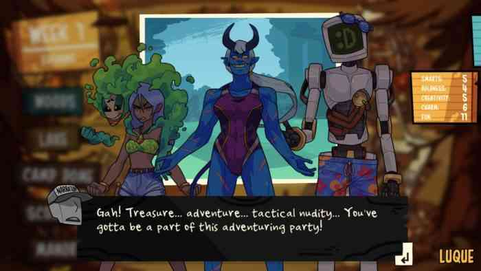 A screenshot from Monster Prom 2: Monster Camp, showing a random event.