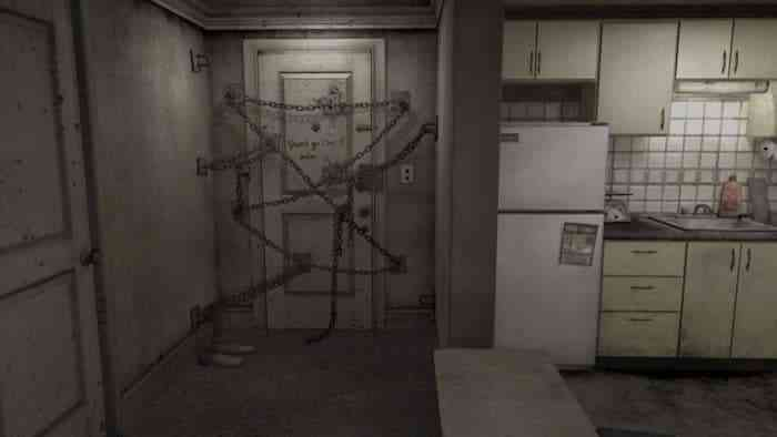 The chained-up door from Silent Hill 4.