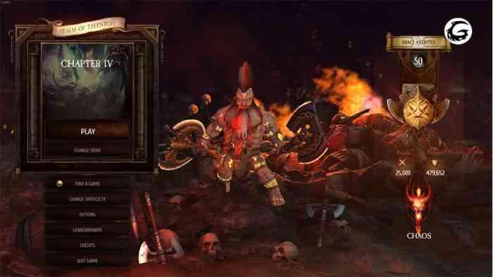 Warhammer Chaosbane menu screenshot