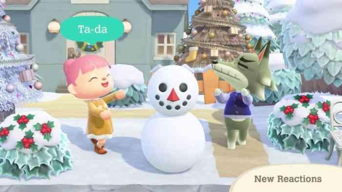 Animal Crossing snowman