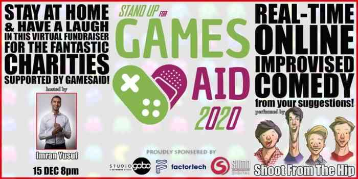 Stand Up For GamesAid promo art.