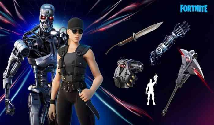 T-800 and Sarah Connor Terminator Fortnite
