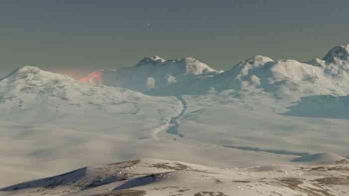 Buried in Ice screenshot of the Antarctic ice.