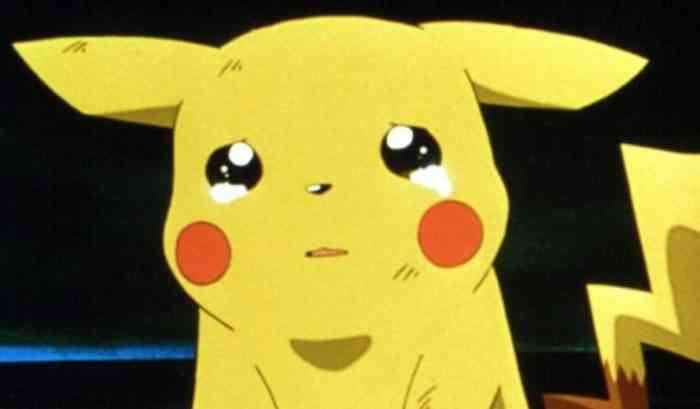 Sad Pikachu anime