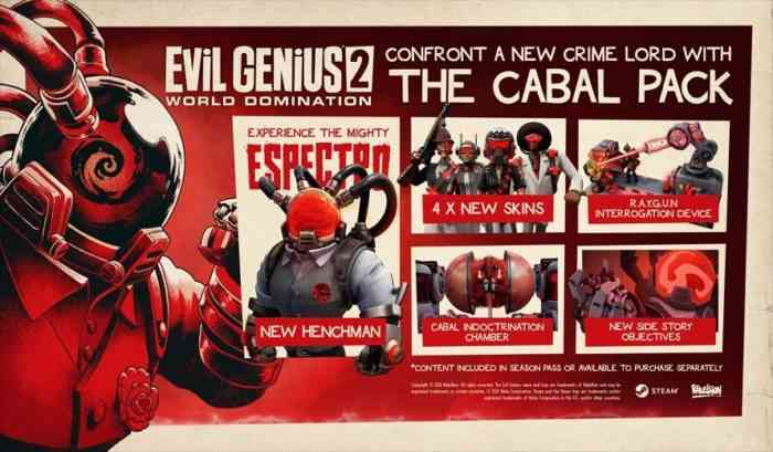 The Cabal Pack Evil Genius 2: World Domination