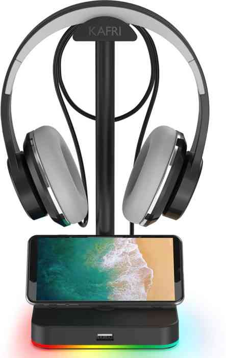 RGB Headphone Stand with USB Hub