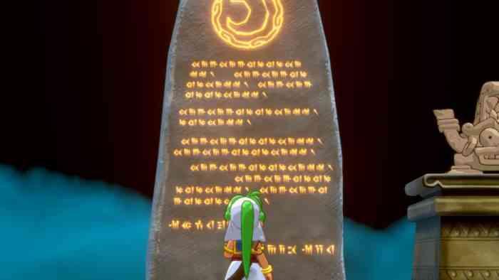 Wonder Boy Asha in Monster World stone