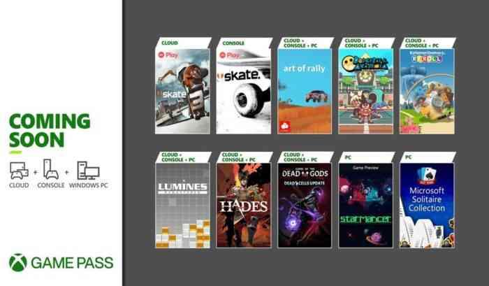Xbox GamePass August